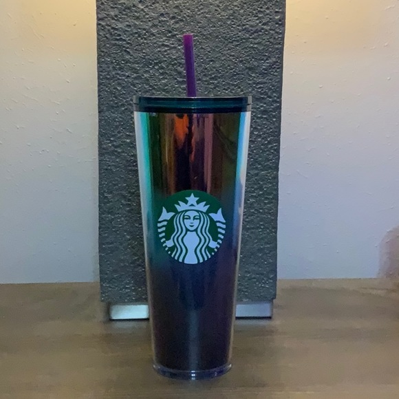 Starbucks Venti ombré purple green gold cup